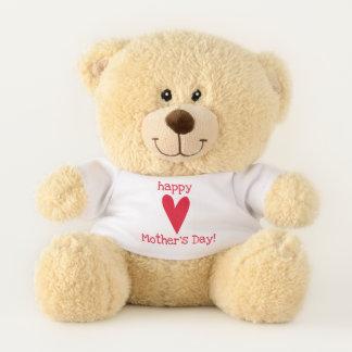 Ours En Peluche Le jour de mère heureux ! Coeur rouge