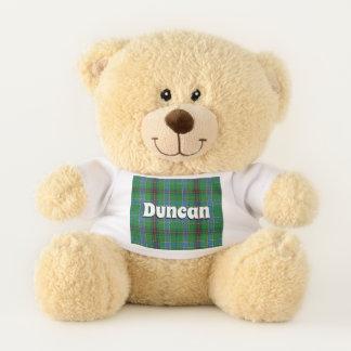 Ours En Peluche L'écossais étreint le plaid de tartan de Duncan de
