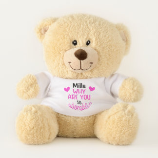 Ours En Peluche Les coeurs roses adorables ont personnalisé l'ours