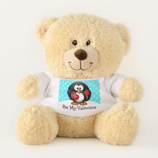Ours En Peluche Pingouin de Valentine avec du chocolat et le