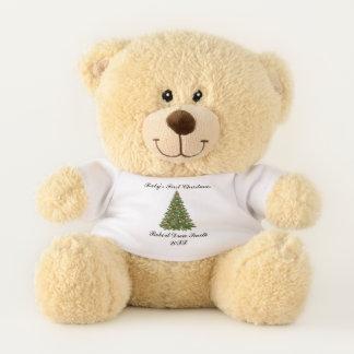 Ours En Peluche Premier Noël du bébé personnalisé