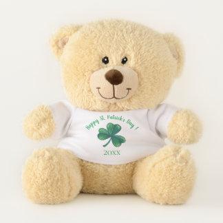 Ours En Peluche Trèfle de vert du jour de St Patrick personnalisé