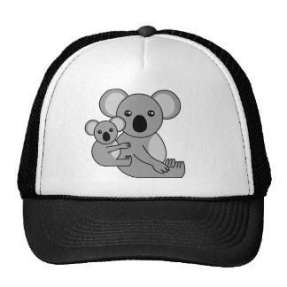 Ours et bébé de koala mignons casquettes de camionneur