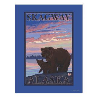 Ours et CUB - Skagway, Alaska Carte Postale