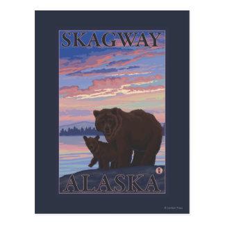 Ours et CUB - Skagway, Alaska Cartes Postales