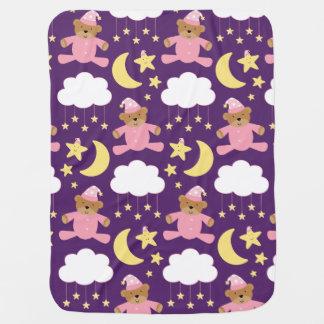 Ours et étoiles de cadeau de bébé couvertures pour bébé