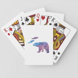 ours et saumon jeu de cartes