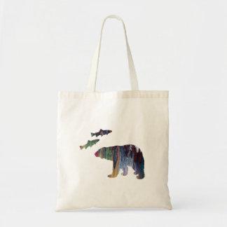 ours et saumon sac