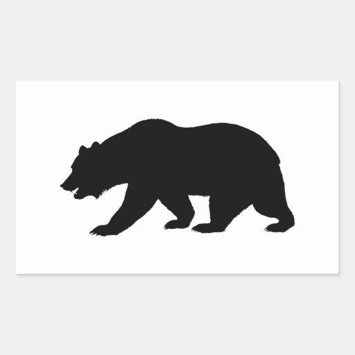 Ours gris sticker en rectangle