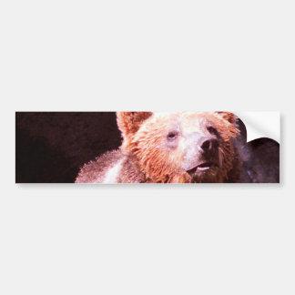ours gris autocollant de voiture