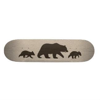 Ours gris avec des silhouettes de CUB Plateaux De Skateboards Customisés
