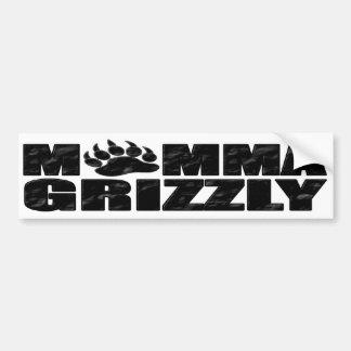 Ours gris de mamans autocollant de voiture