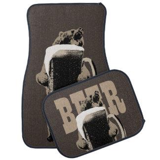 Ours gris et bière drôles tapis de voiture