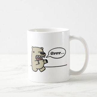Ours gris mug à café