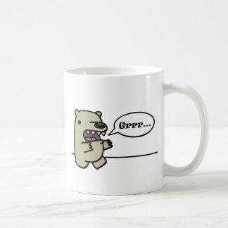 Ours gris mug blanc