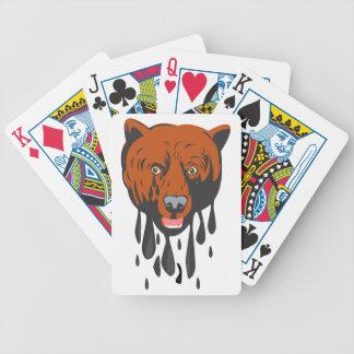 Ours lâche cartes à jouer