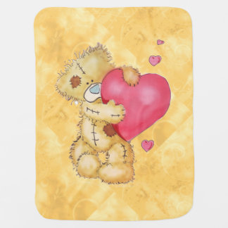 Ours mignon avec des coeurs couverture de bébé