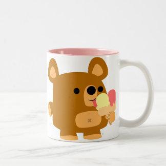 Ours mignon de bande dessinée avec des boules :) tasse 2 couleurs