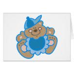 ours mignon de bébé carte de vœux