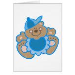 ours mignon de bébé cartes de vœux