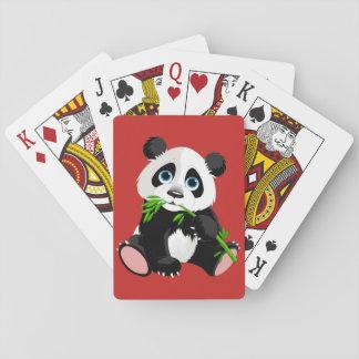 Ours panda animated mignon jeu de cartes