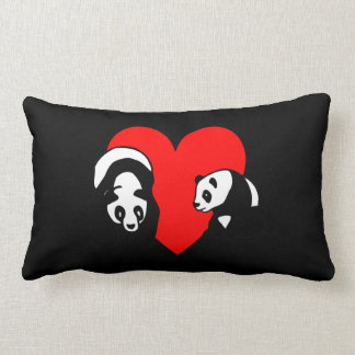 Ours panda coussin rectangle