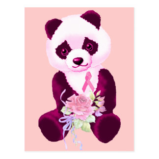 Ours panda de cancer du sein carte postale