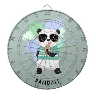 Ours panda de hippie avec tout nom cibles de fléchettes