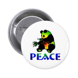 Ours panda de paix badge rond 5 cm