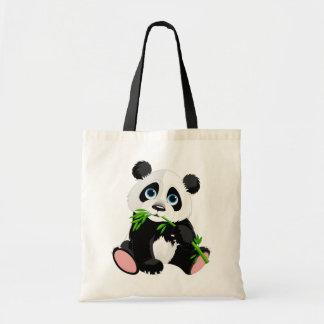 Ours panda mignon de bande dessinée sac