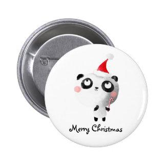 Ours panda mignon de Noël Badge Rond 5 Cm