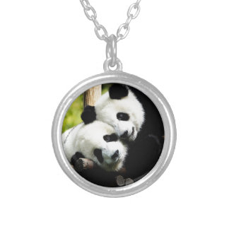 Ours panda pendentif rond