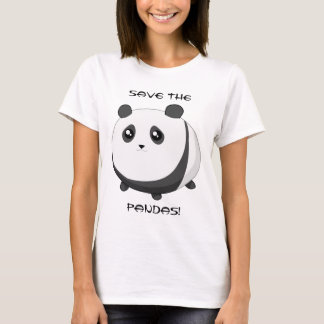 Ours panda potelé mignon de Kawaii T-shirt