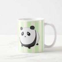 Ours panda potelé mignon de Kawaii Tasses À Café