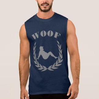 Ours potelé dans la fierté d'ours de cool de WOOF T-shirt Sans Manches