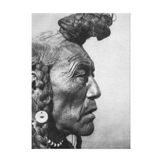 Ours Taureau un art Blackfoot de toile de guerrier