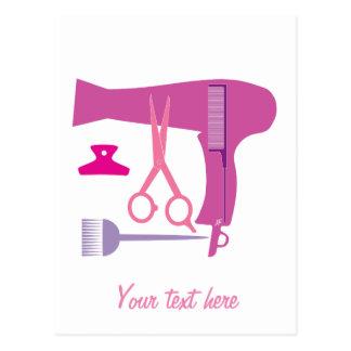 Outils de coiffures carte postale