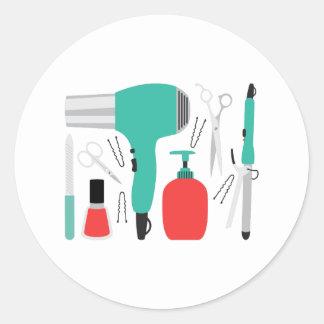 Outils de cosmétologie sticker rond