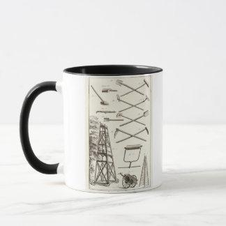 Outils de jardinage et une plate-forme mobile mug