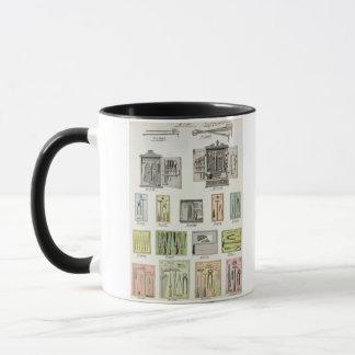 Outils et boîtes à outils d'un catalogue mug