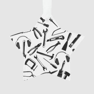 Outils noirs de motif