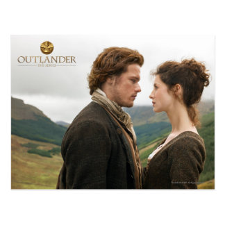 Outlander | Jamie et Claire faces à face Carte Postale