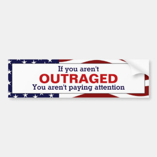 Outragé Autocollant De Voiture