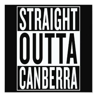 outta droit Canberra Carton D'invitation 13,33 Cm