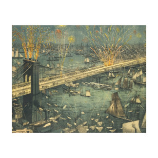 Ouverture historique vintage de pont de New York Toiles