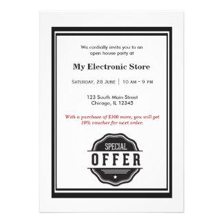 Ouverture officielle d offre spéciale invitation personnalisable