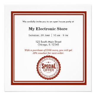 Ouverture officielle d offre spéciale cartons d'invitation personnalisés
