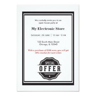 Ouverture officielle d'offre spéciale invitation personnalisable