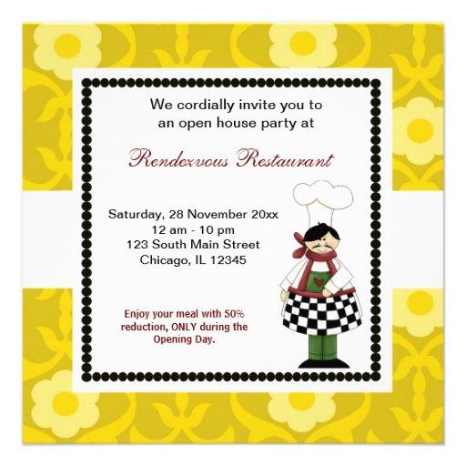 Ouverture officielle invitation personnalisable
