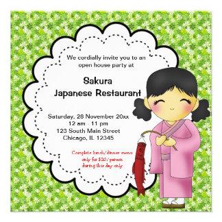 Ouverture officielle japonaise invitations personnalisées